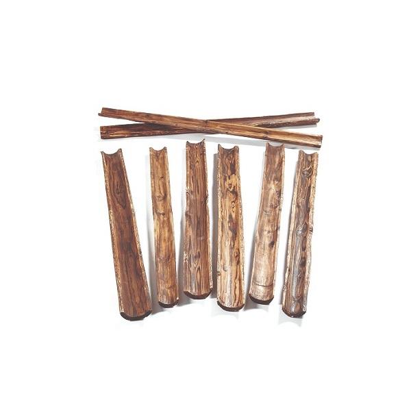 Canalización agua madera natural